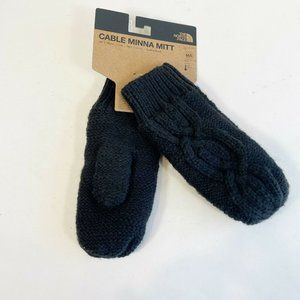 The North Face Black Fleece Lined Cable Minna Knit